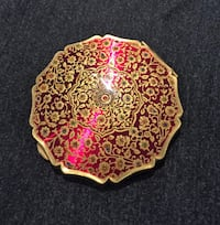 Vintage Gold Inlay Stratton Powder Compact