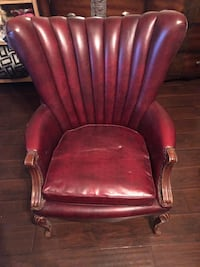Red vintage leather chairs