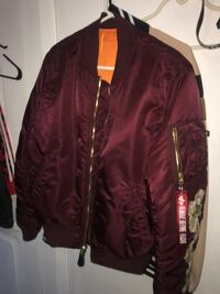 9\10 Alpha-ma-1-flight-jacket-burgundy Toronto, M3N