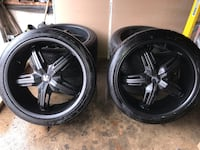 "22"" inch dub rims with tires Mississauga, L4W 3J7"