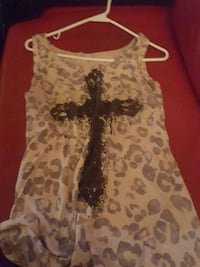 white and black floral sleeveless dress Calgary, T2A