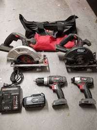 PORTER CABLE 18V CORDLESS TOOL SET Northport, 35473