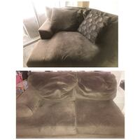 brown suede 2-seat sofa Silver Spring, 20910