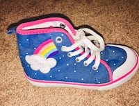 Girls Gymboree rainbow high top shoes size 10 Sykesville, 21784