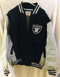 Authentic new never been used NFL Oakland Raiders 2X leather jacket 2289 mi