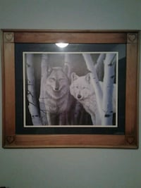 4pc set rustic wolf pictures