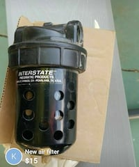 black Interstate pneumatic products air filter