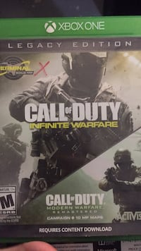 Call of Duty Infinite Warfare Xbox One game case St Catharines, L2P 3T8