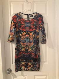 women's black and red floral long sleeve dress New York, 10025