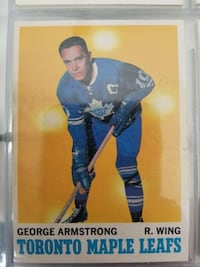 George Armstrong R. Wing Toronto Maple Leafs hockey collectible card Lindsay, K9V 1C3