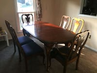 oval brown wooden table with six chairs dining se Woodbridge, 22191