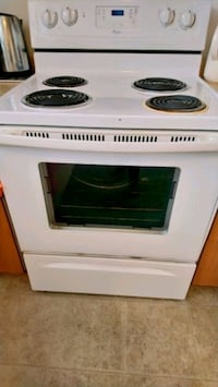white and black electric coil range oven Toronto, M1E 3T1