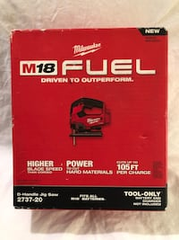 Brand new in the box Milwaukee M18 fuel brushless jig saw. Tool only Vacaville, 95687