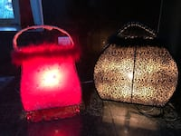 Leopard Purse Lamp and Red Purse Lamp...