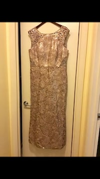 New size 14 ladies long gown champagne sequins beads pick in Gaithersburg Maryland all sales final  Gaithersburg, 20877