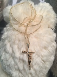 """18k GPL Jesus Pendant With Chain Necklace 18"""" 2mm"""