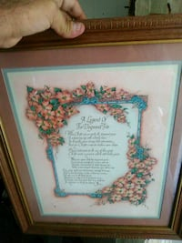 Dogtree framed poem Edenton, 27932