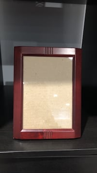 rectangular brown photo frame