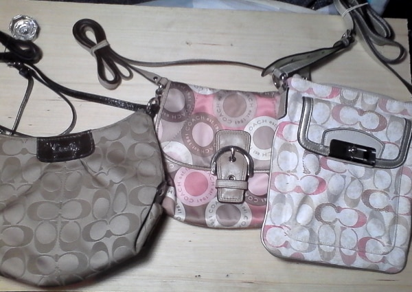 Signature Coach Purses, Three for sale. Like new