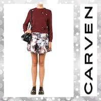 Carven Seascape Skirt in Gray Hagerstown, 21740