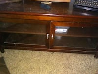 brown wooden TV stand