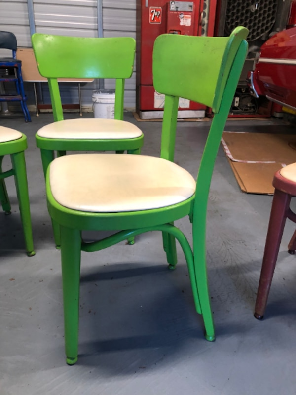 6 Vintage Thonet Bentwood Mid Century Dining Chairs