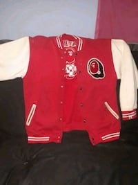 red and white letterman jacket Bowie, 20716