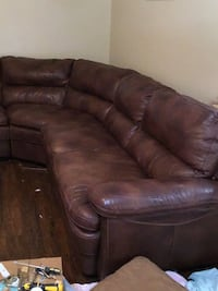 brown leather 3-seat recliner sofa Mustang, 73064