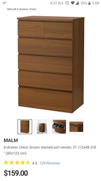 brown wooden 4-drawer chest Toronto, M5A 4S8