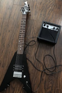 Six string electric guitar and amp