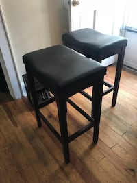2 Brown Leather Barstools.   Greenville, 29615