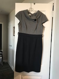 Black and gray scoop-neck cap-sleeved dress Toronto, M4S 1G8