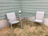 Glass Patio Table with 4 chairs. Bangor, 04401