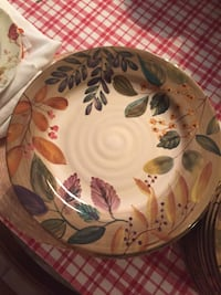 white, red, and green floral ceramic plate Valley Center, 92082