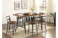 NEW HOMELEGANCE COUNTER HEIGHT TABLE SET 5 PCS Clifton, 07013