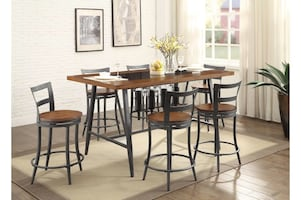 NEW HOMELEGANCE COUNTER HEIGHT TABLE SET 5 PCS