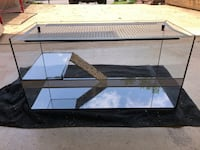 rectangular black metal framed glass pet tank Woodbridge, 22193