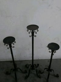 two black metal candle holders Wenatchee, 98801