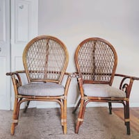 two brown bamboo armchairs  Gaithersburg, 20878
