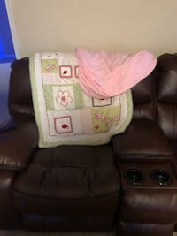 6pc matching crib set with curtains and wall pictures