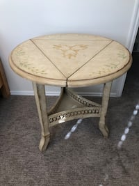 Incredible Hand Painted Adjustable Accent/End Table!