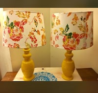 2?Antique yell glass lamps Montgomery Village, 20886