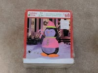 Inflatable holiday penguin. Milton, L9T 7V1