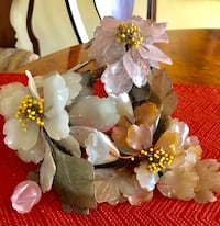 VINTAGE JADE AND STONE FLORAL CENTERPIECE Wood-Ridge, 07075