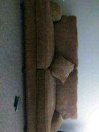 brown suede 3-seat sofa Lakeville, 55044