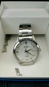 round silver Seiko analog watch with silver link b Eugene, 97402