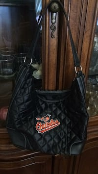 ORIOLES quilt & leather hand bag never used