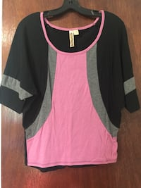 women's black and pink blouse Terre Haute, 47807
