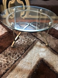round glass top table with stainless steel base Lorton, 22079