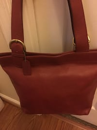 women's red leather tote bag Clinton, 20735